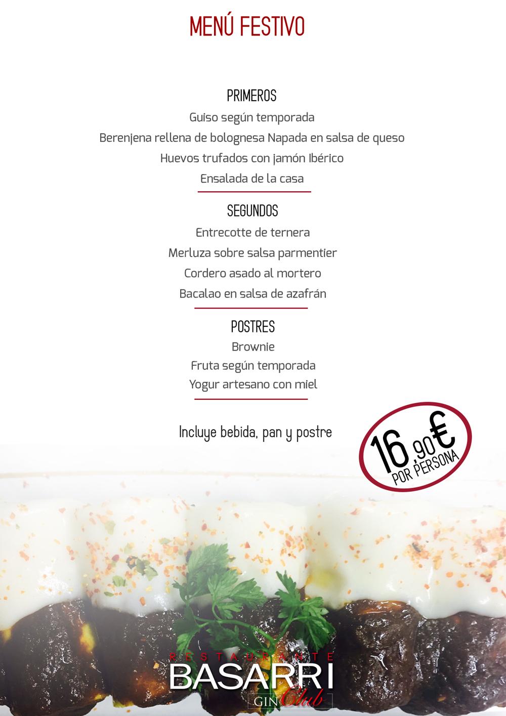 Menú coctel 37 eur